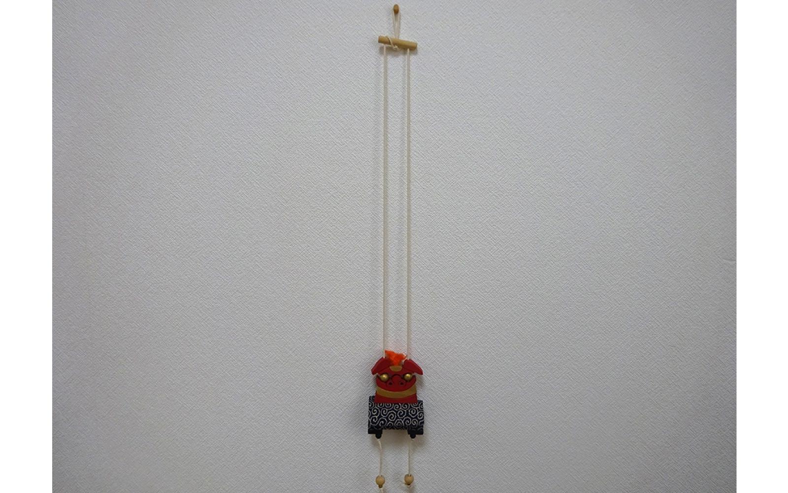 獅子頭登り人形 赤